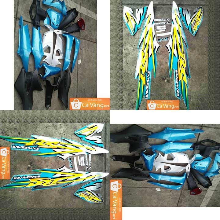 Trọn bộ Vỏ nhựa xe máy + Tem xe máy Wave RS Nhựa ABS loại tốt MÀU